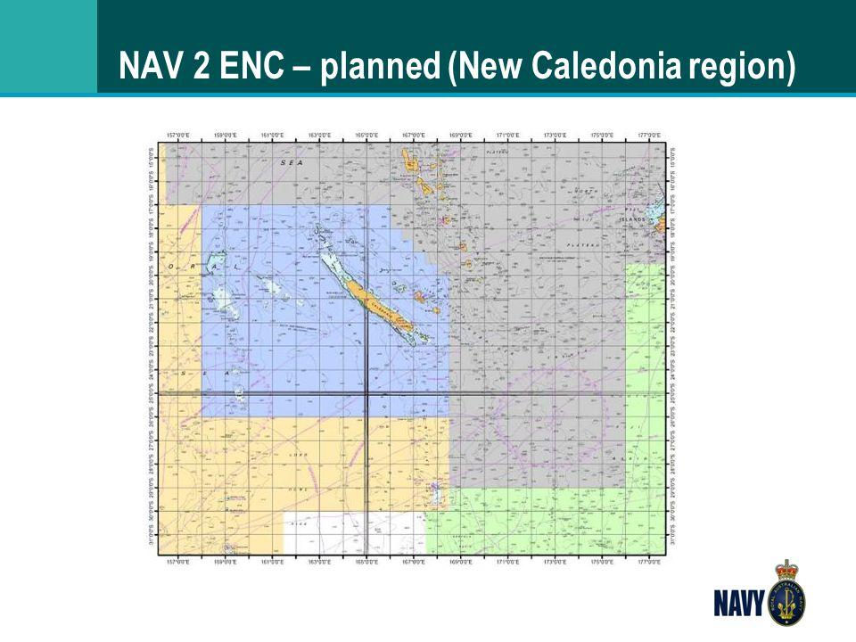 NAV 2 ENC – planned (New Caledonia region)