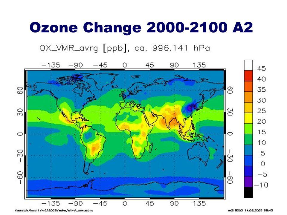Ozone Change 2000-2100 A2