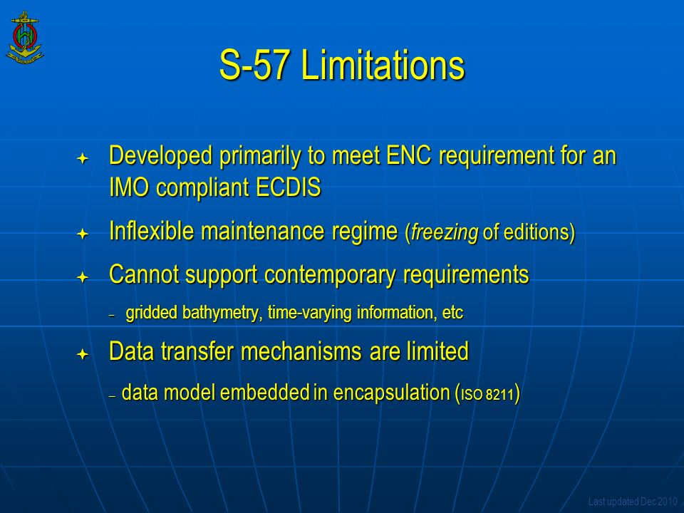 IHO S-100 The Universal Hydrographic Data Model
