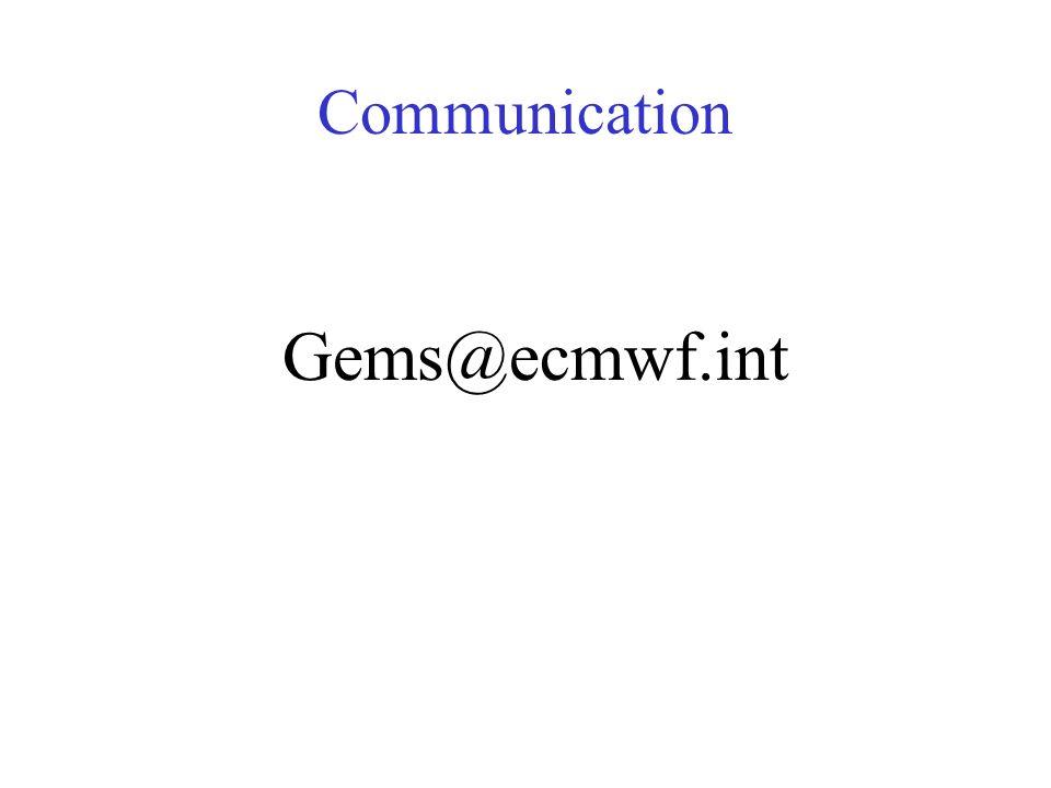 Communication Gems@ecmwf.int