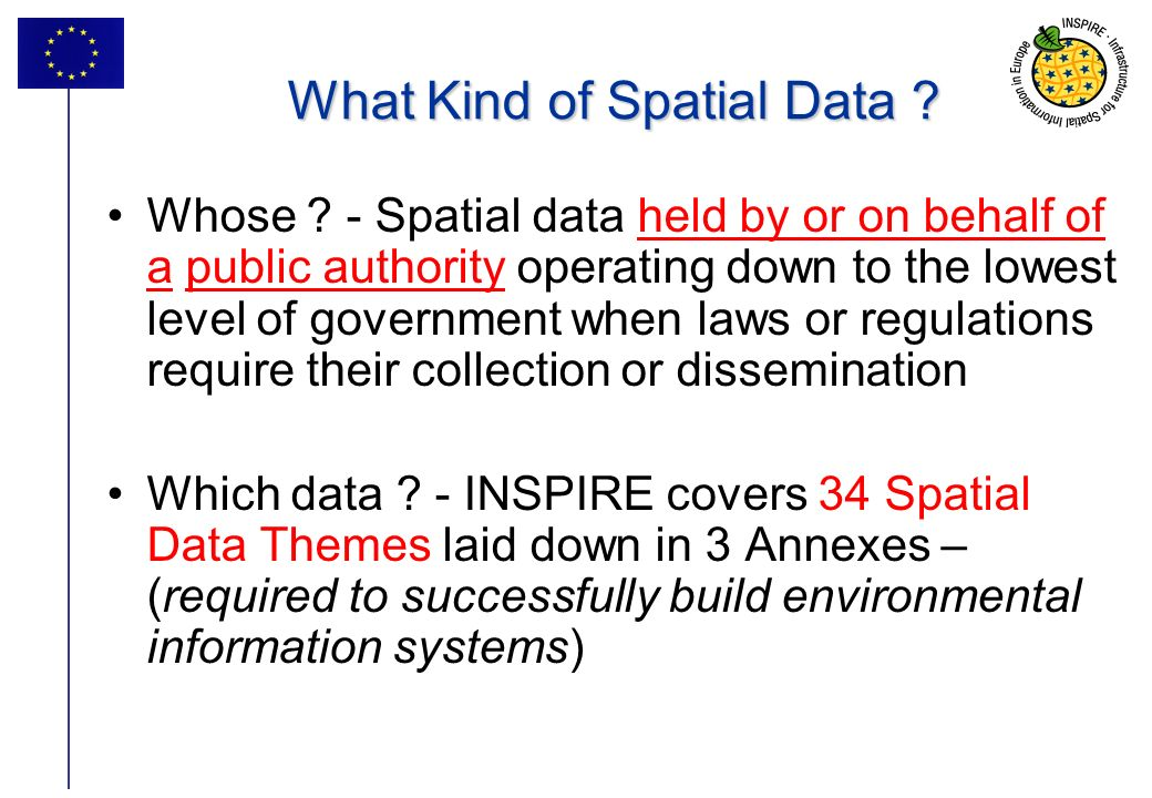 15 What Kind of Spatial Data . Whose .