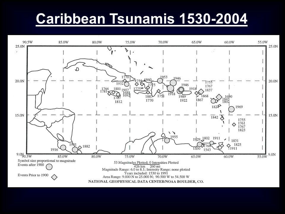 Caribbean Tsunamis 1530-2004