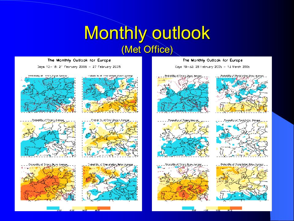 Monthly outlook (Met Office)