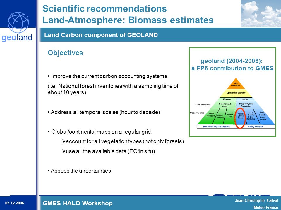 GOLD/GOFC Geostationary Fire Workshop, 2006-12-6 Kaiser, GFAS, 20 RECOMMENDATION: Global Fire Assimilation System (GFAS)