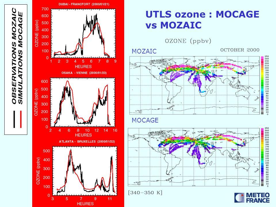 UTLS ozone : MOCAGE vs MOZAIC MOZAIC MOCAGE