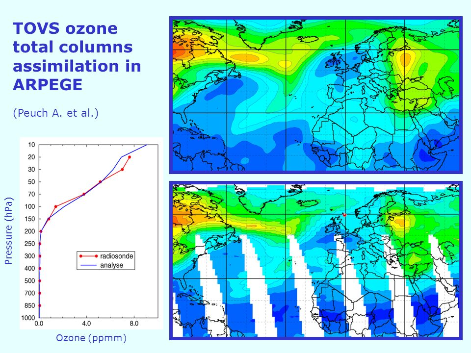 TOVS ozone total columns assimilation in ARPEGE (Peuch A.