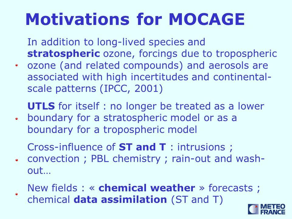 ARPEGE-MOCAGE NWP/CHEM assim.ARPEGE MOCAGE - PALM Met.