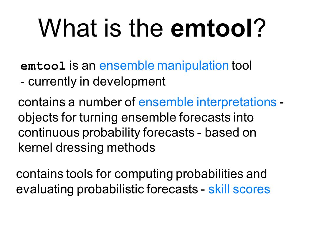 What is the emtool.