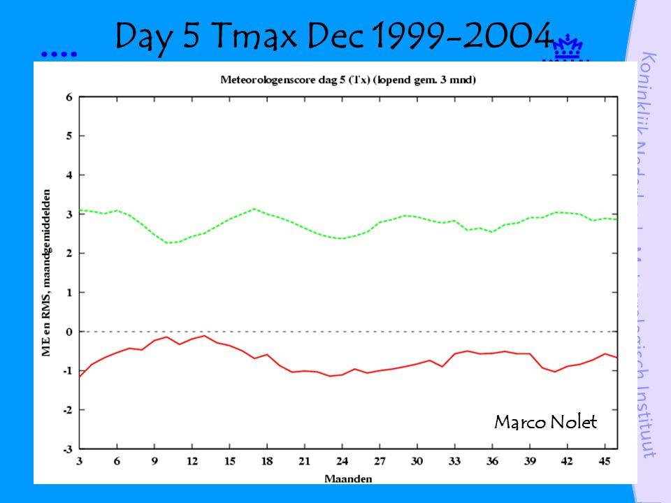 Day 5 Tmax Dec 1999-2004 Marco Nolet