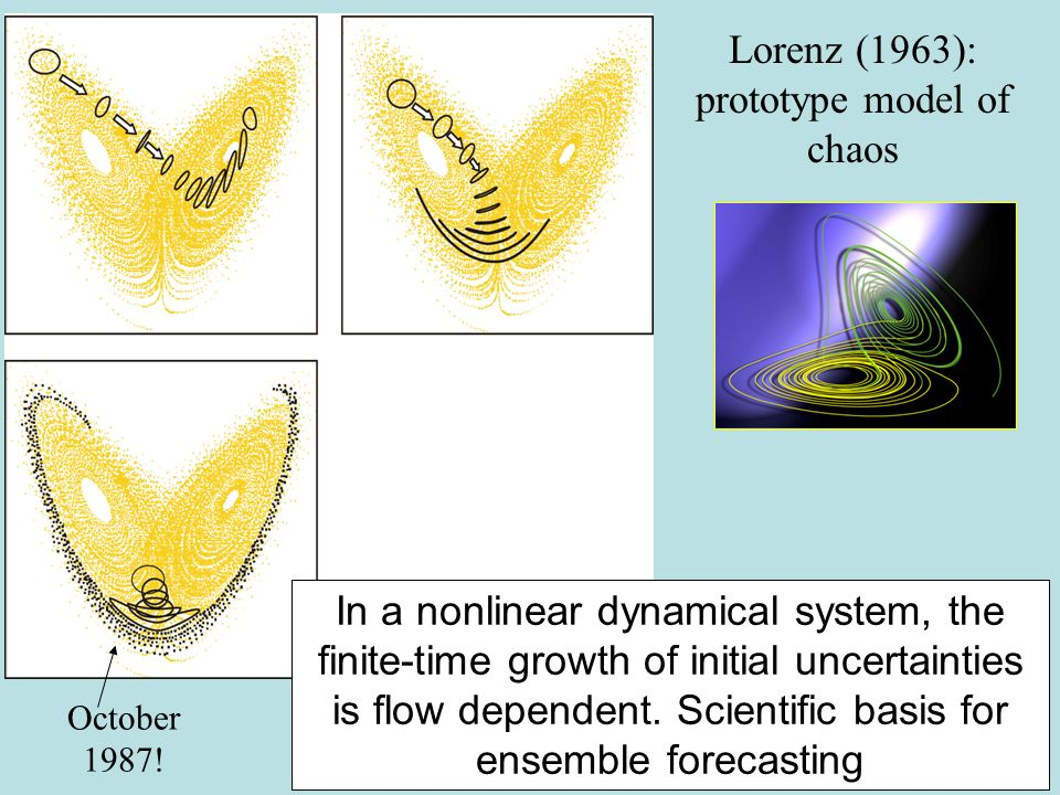 In a nonlinear dynamical system, the finite-time growth of initial uncertainties is flow dependent.