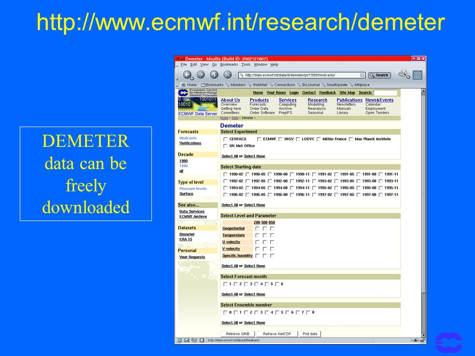 http://www.ecmwf.int/research/demeter DEMETER data can be freely downloaded