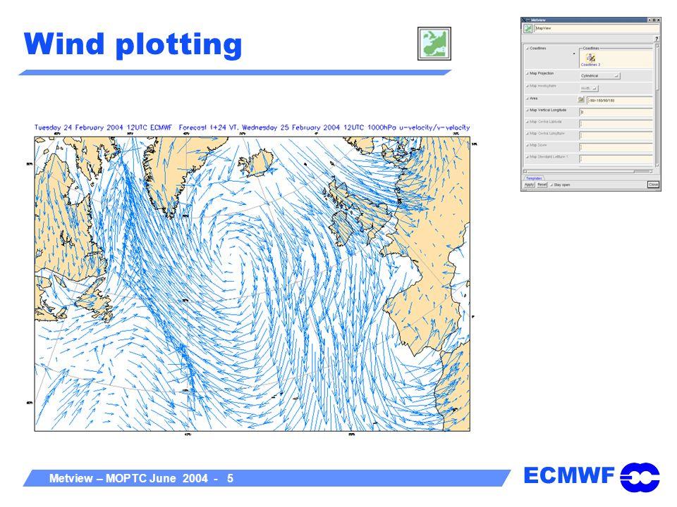 ECMWF Metview – MOPTC June 2004 - 6 Field plotting