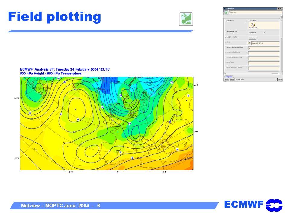 ECMWF Metview – MOPTC June 2004 - 7 Field plotting