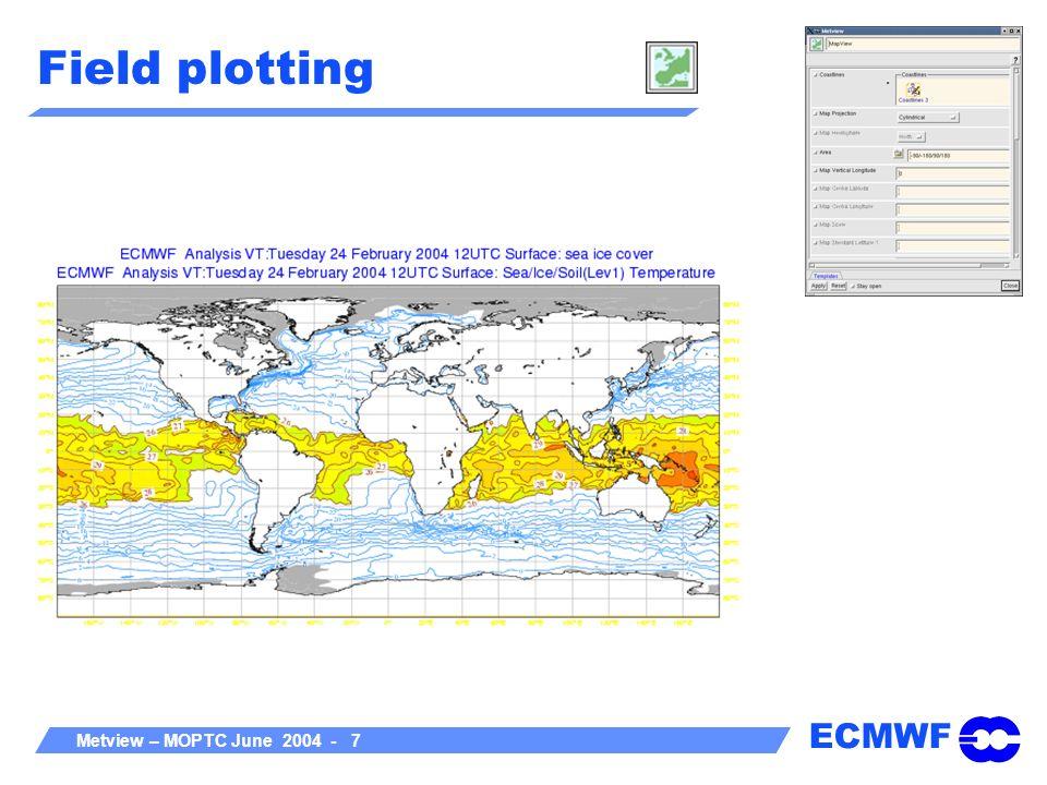ECMWF Metview – MOPTC June 2004 - 8 Satellite image + field