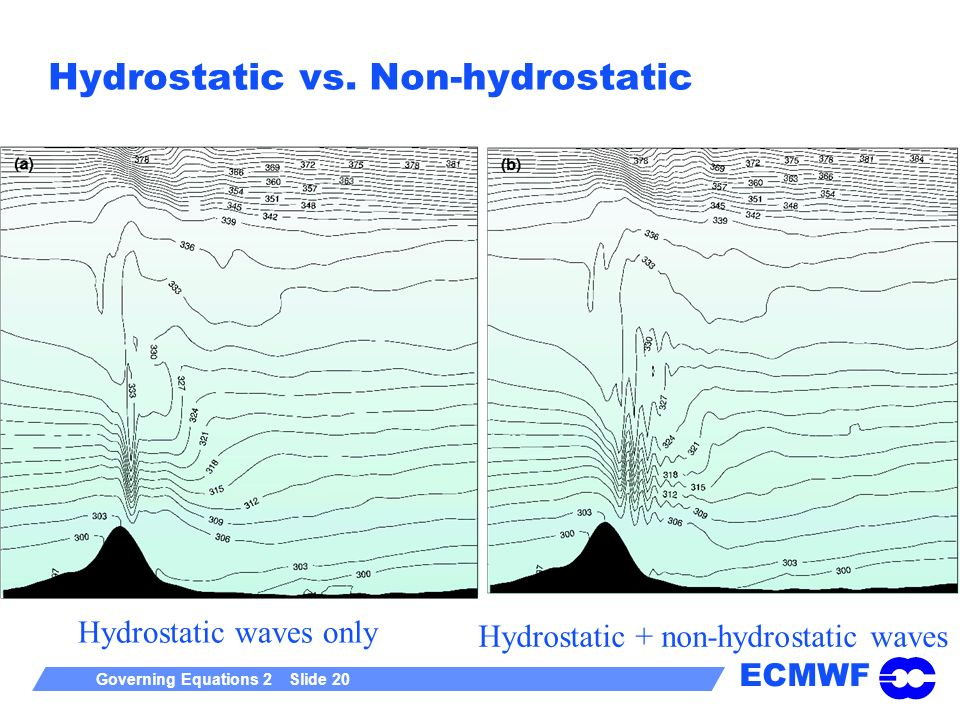 ECMWF Governing Equations 2 Slide 20 Hydrostatic vs.