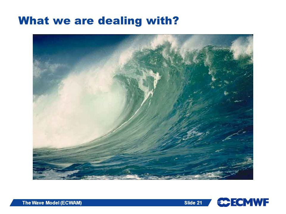 Slide 21The Wave Model (ECWAM) What we are dealing with?