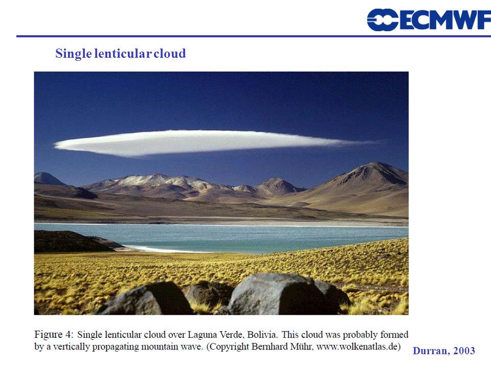 Durran, 2003 Single lenticular cloud