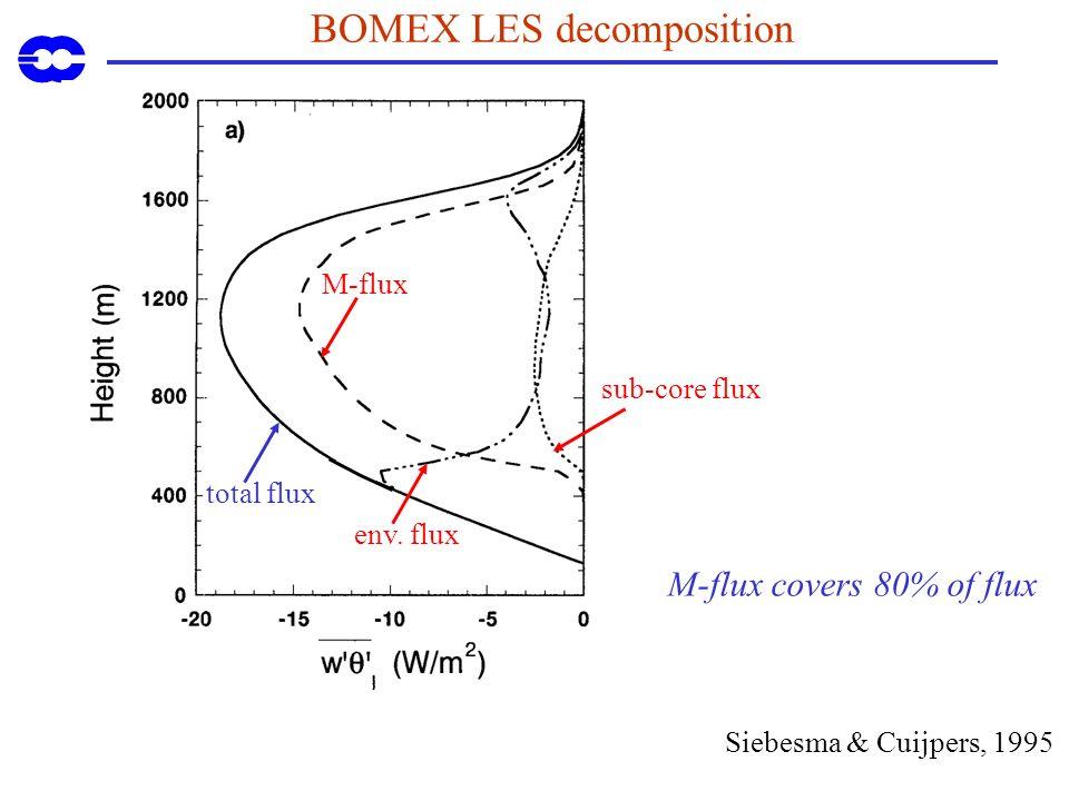 BOMEX LES decomposition total flux M-flux env.