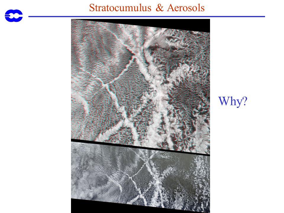 Stratocumulus & Aerosols Why?