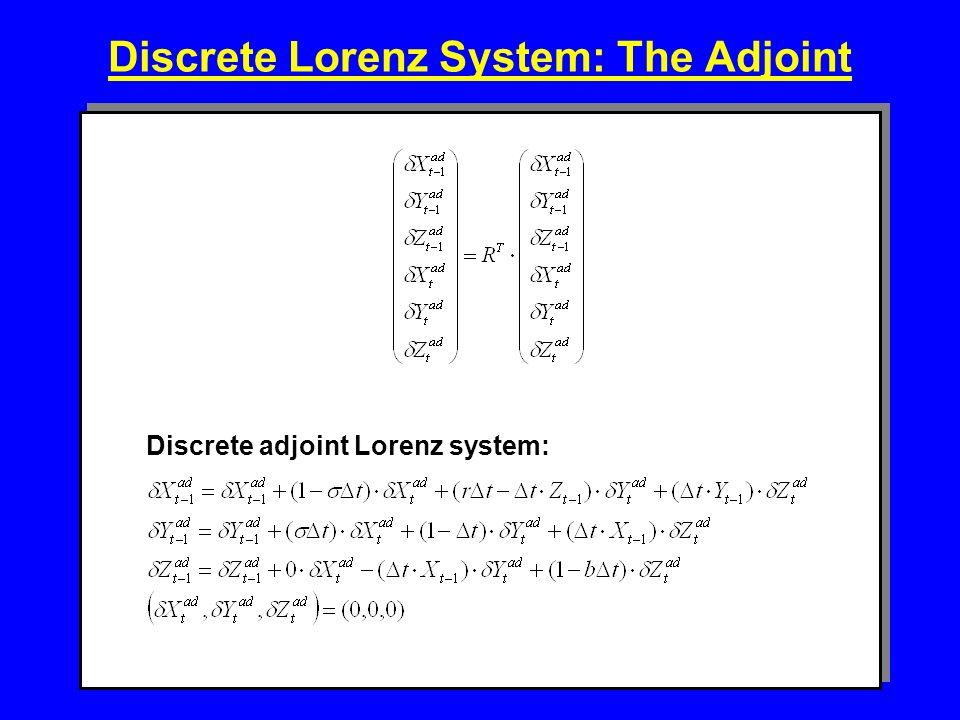 Discrete Lorenz System: The Adjoint Discrete adjoint Lorenz system: