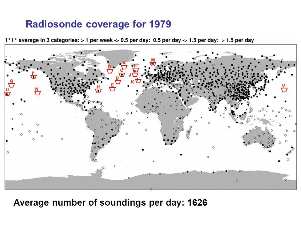Average number of soundings per day: 1626 A B C D E H I J K M N P Q U V Radiosonde coverage for 1979