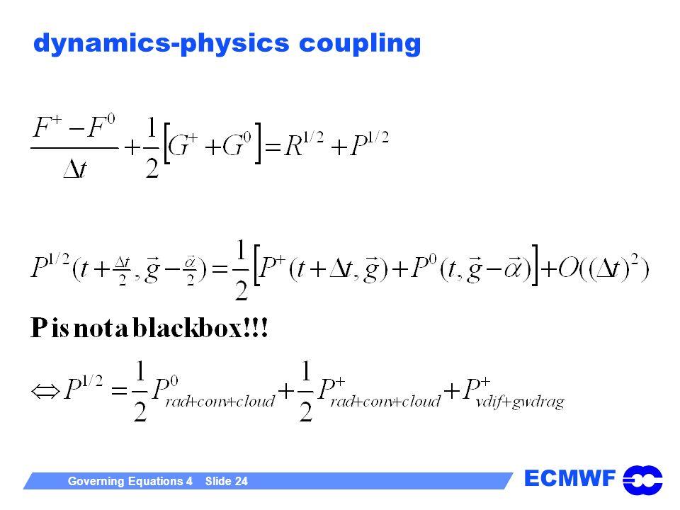 ECMWF Governing Equations 4 Slide 24 dynamics-physics coupling