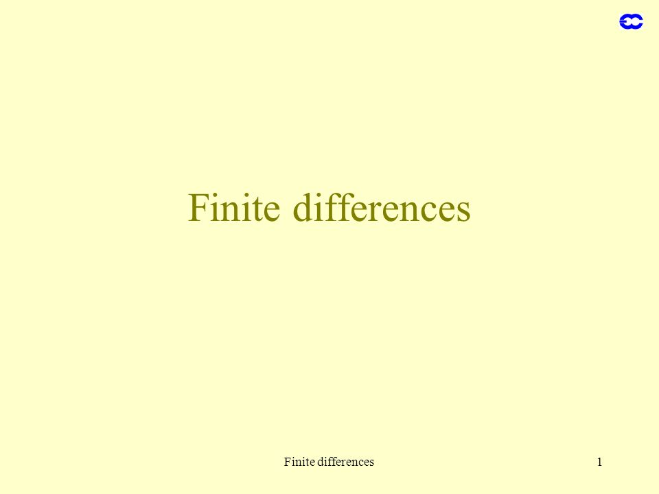 Finite differences1