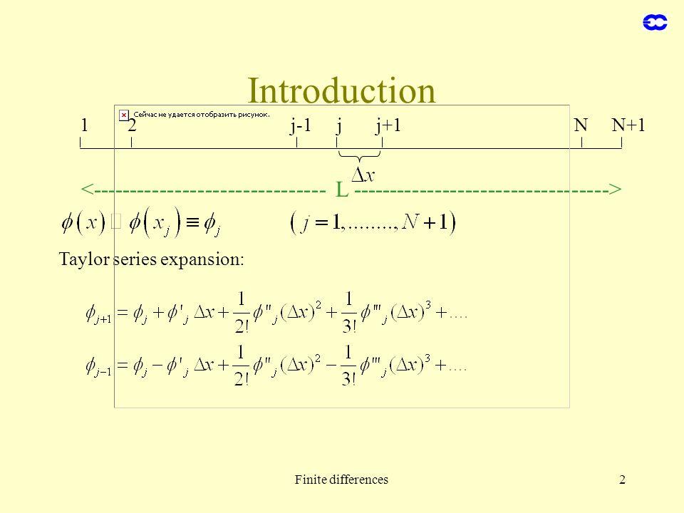 2 Introduction 1j-1jj+12NN+1 Taylor series expansion: