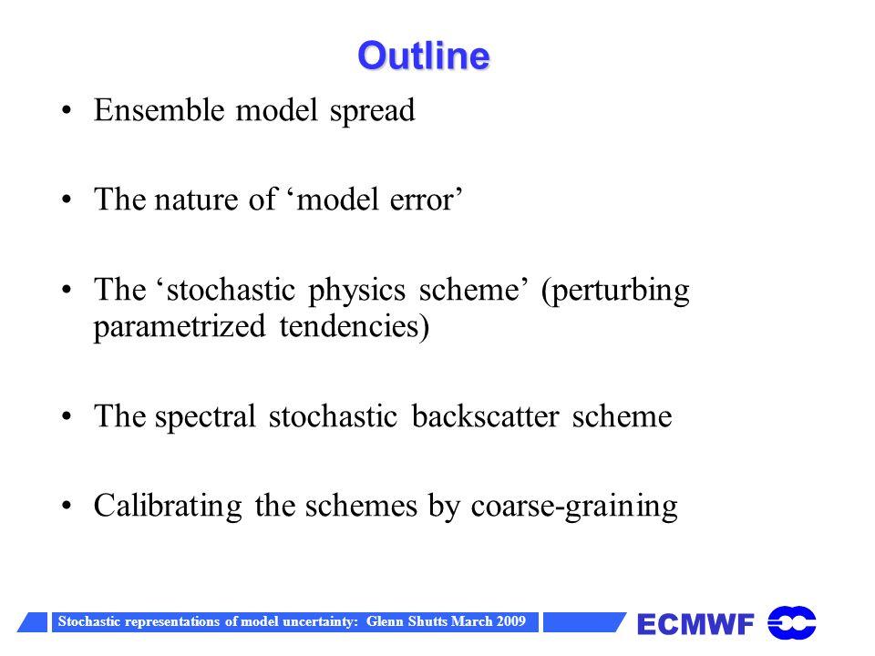 ECMWF Stochastic representations of model uncertainty: Glenn Shutts March 2009 New stochastic physics pattern generator
