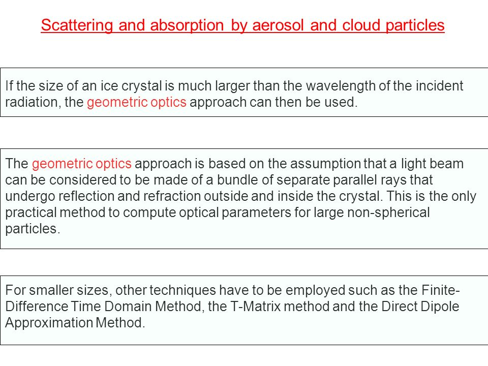 Computation of the total extinction coefficient In the most general case where absorption and scattering take place, the total extinction coefficient can be written as: (26)