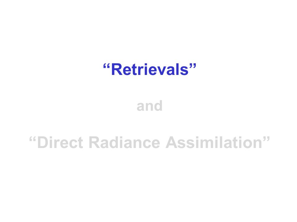 The linear data assimilation schemes used in the past at ECMWF such as Optimal Interpolation (OI) were unable to assimilate radiance observations directly (as they were nonlinearly related to the analysis variables) and the radiances had to be explicitly converted to temperature products before the analysis.