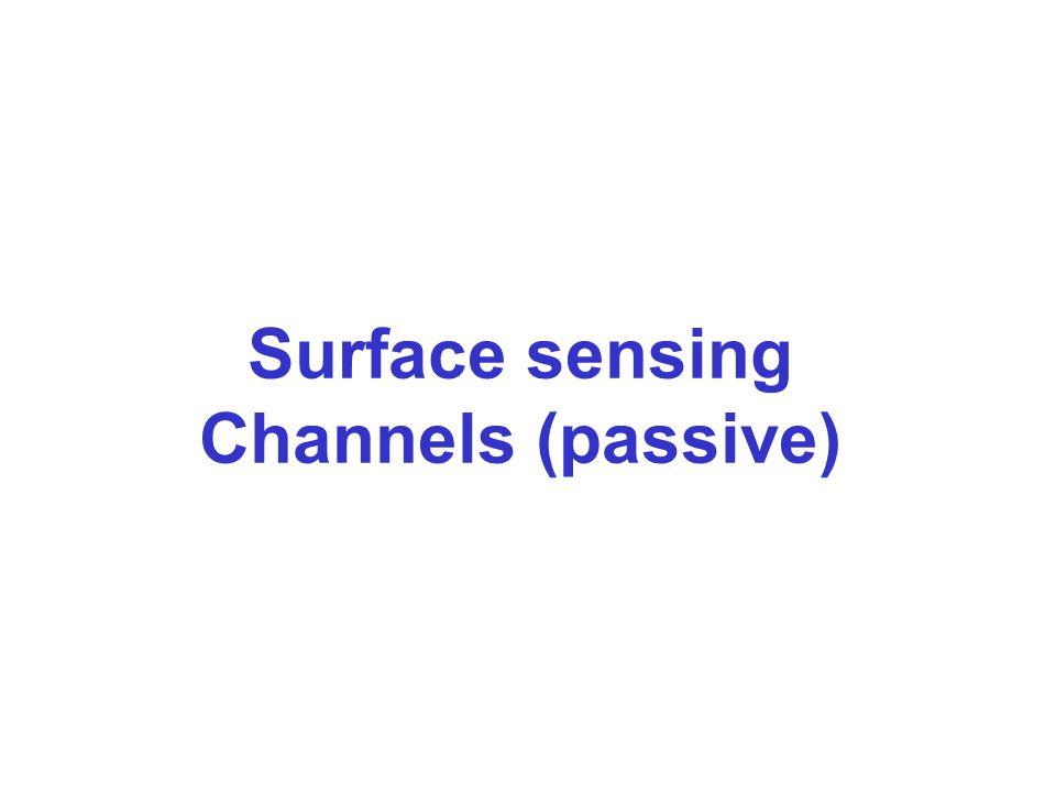 Surface sensing Channels (passive)