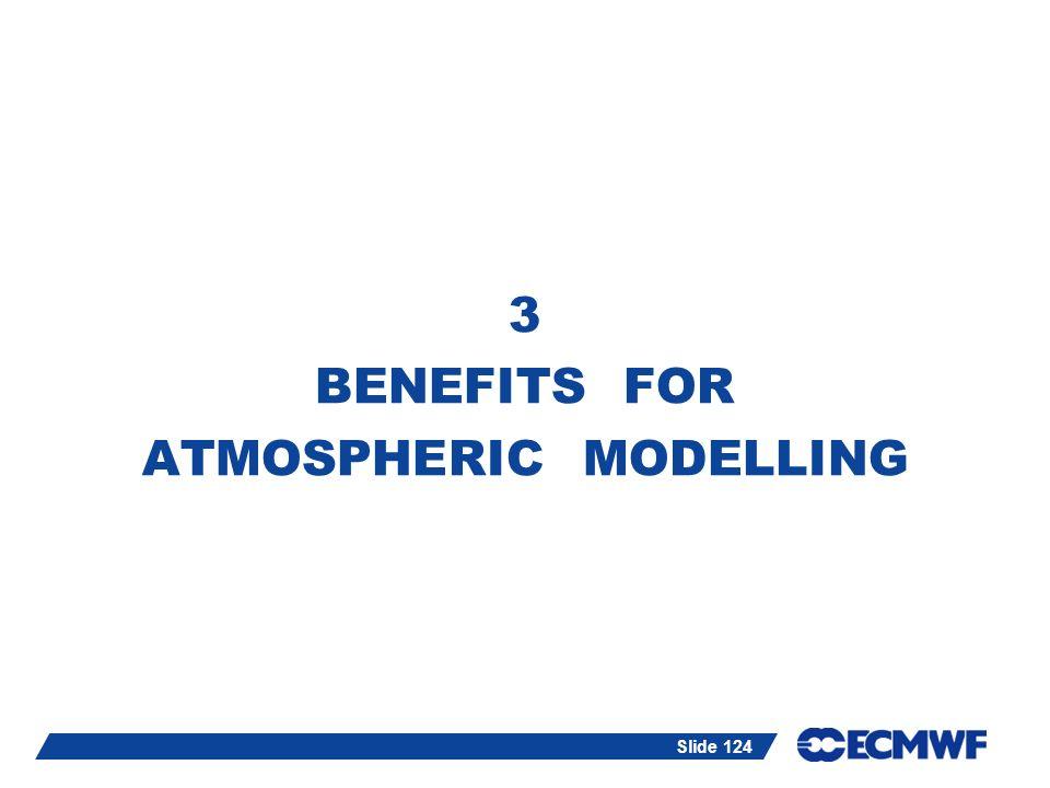 Slide 124 3 BENEFITS FOR ATMOSPHERIC MODELLING