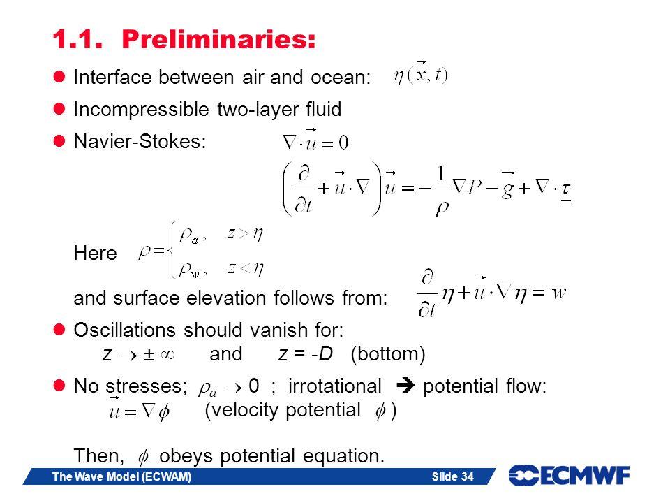 Slide 34The Wave Model (ECWAM) 1.1.