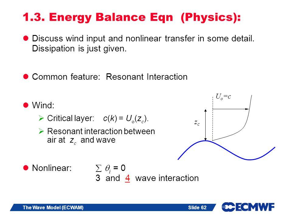 Slide 62The Wave Model (ECWAM) 1.3.