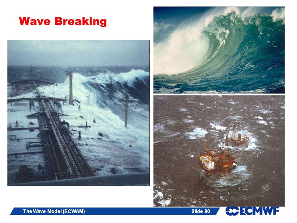 Slide 80The Wave Model (ECWAM) Wave Breaking