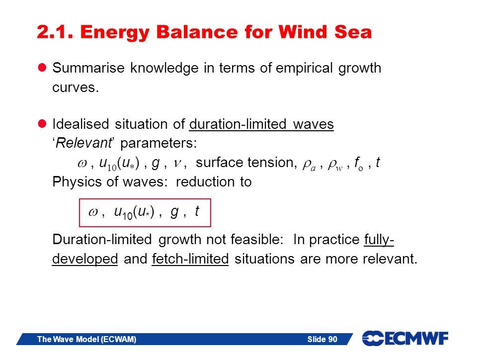 Slide 90The Wave Model (ECWAM) 2.1.
