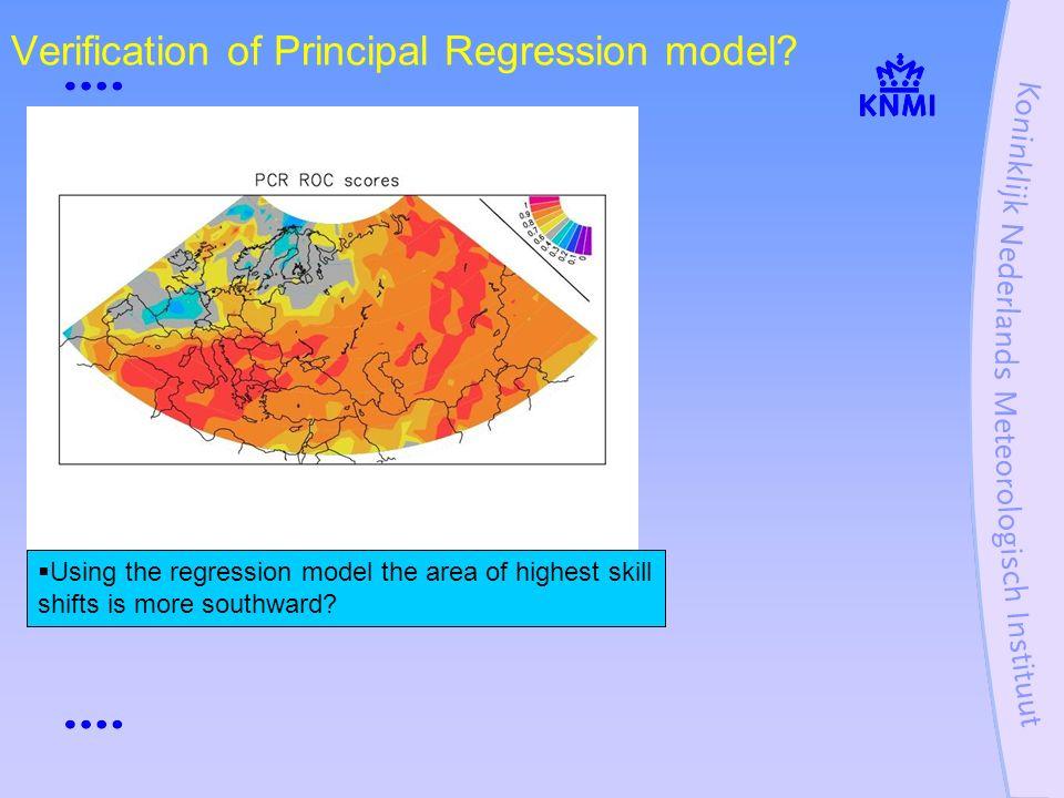 Verification of Principal Regression model.