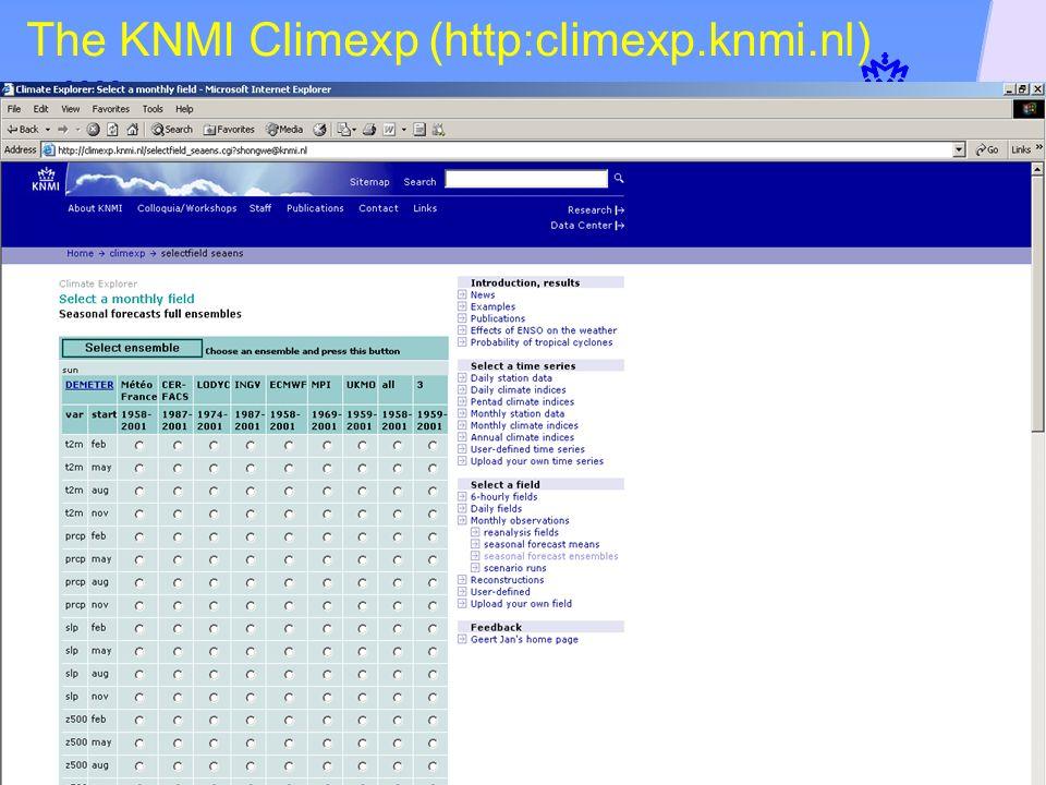 The KNMI Climexp (http:climexp.knmi.nl)