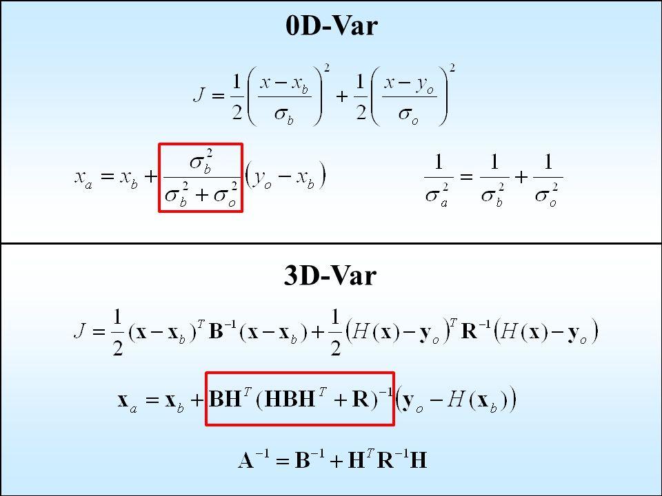0D-Var 3D-Var