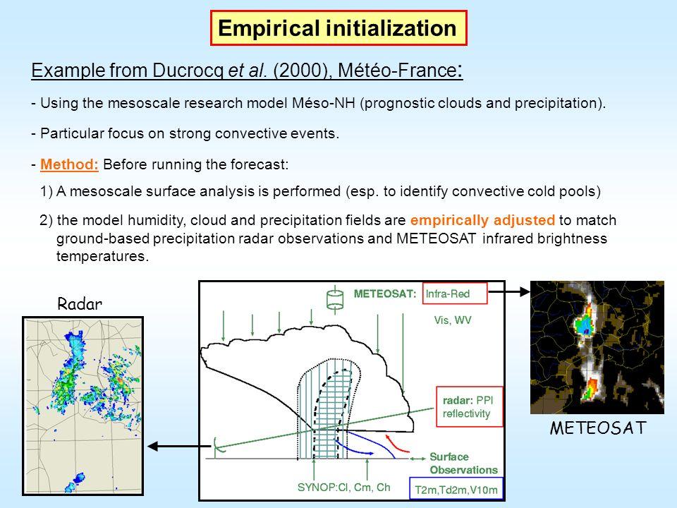 1st minimization Observation types and variables Standard deviation ratio (traj/minim) Standard deviation ratio (traj.