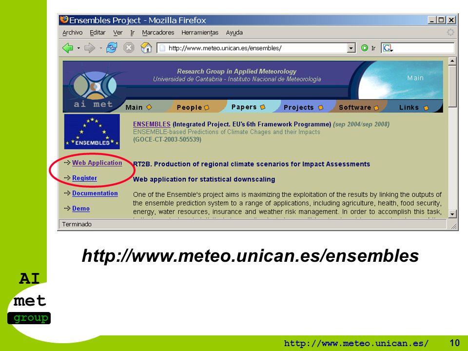AI met group http://www.meteo.unican.es/ 10 http://www.meteo.unican.es/ensembles