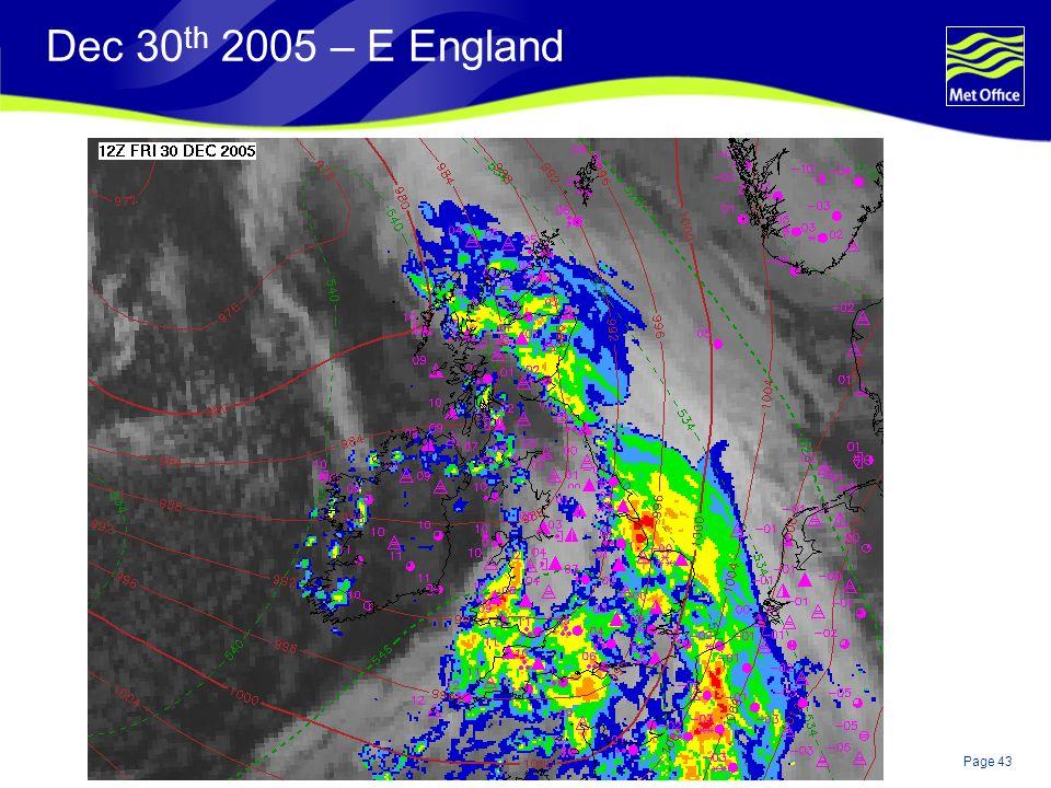 Page 43© Crown copyright Dec 30 th 2005 – E England