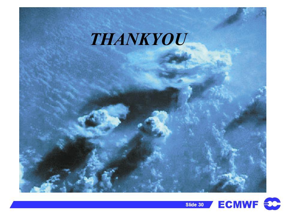 ECMWF Slide 30 THANKYOU