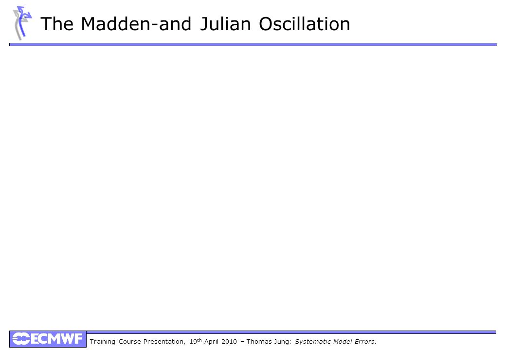 Training Course Presentation, 19 th April 2010 – Thomas Jung: Systematic Model Errors. The Madden-and Julian Oscillation