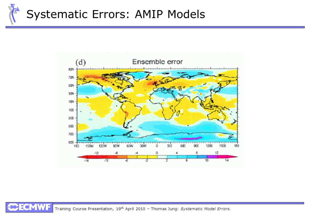 Training Course Presentation, 19 th April 2010 – Thomas Jung: Systematic Model Errors. Systematic Errors: AMIP Models