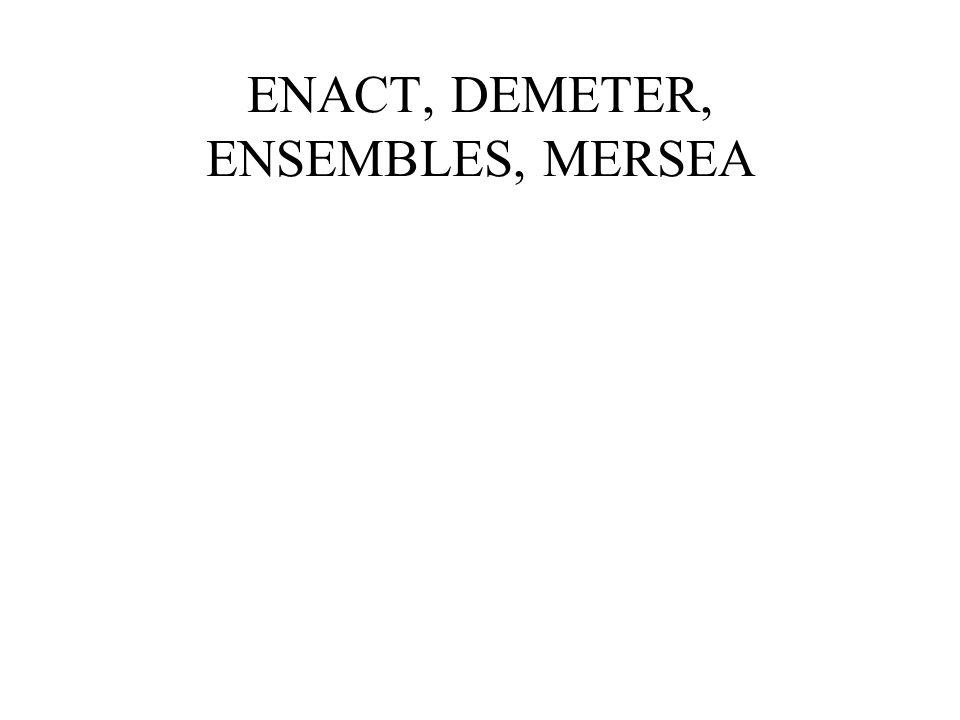 ENACT, DEMETER, ENSEMBLES, MERSEA