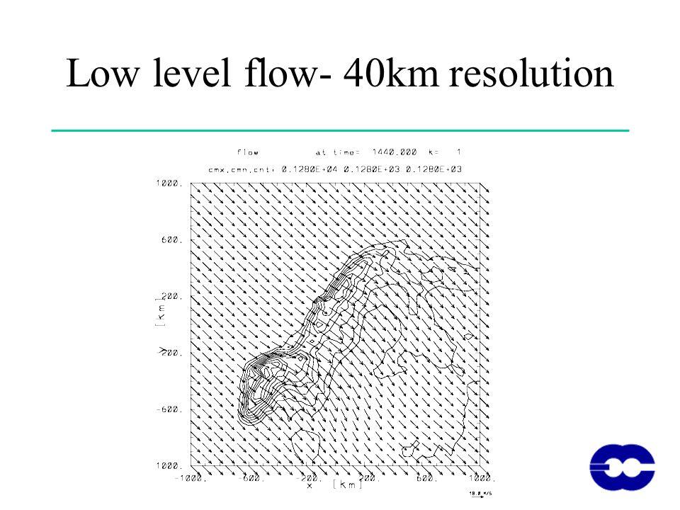 Low level flow- 40km resolution