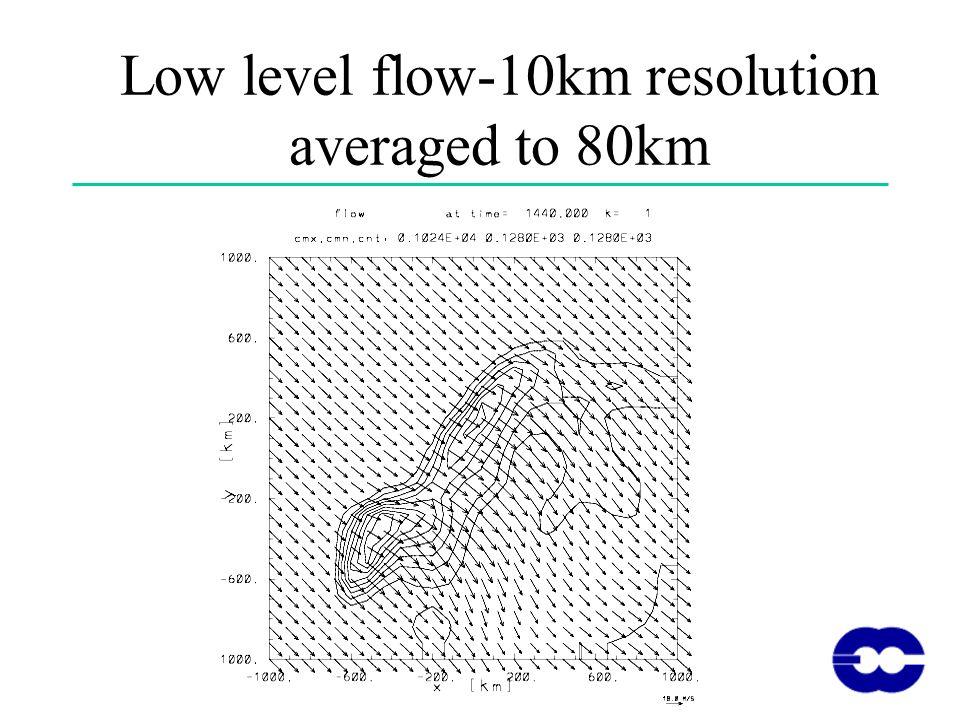 Low level flow-10km resolution averaged to 80km