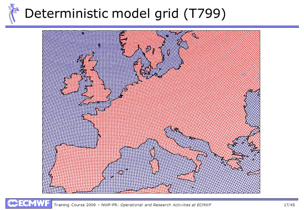 Training Course 2009 – NWP-PR: Operational and Research Activities at ECMWF 17/45 Deterministic model grid (T799)